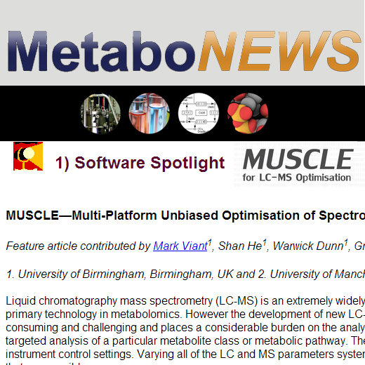 MetaboNews, a newsletter of interest to the global metabolomics community